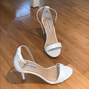 White Steve Madden heels